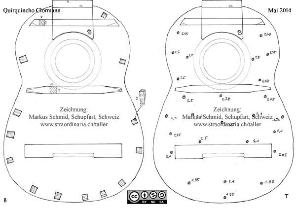 Plano de un charango de quiquincho for Hacer planos a escala